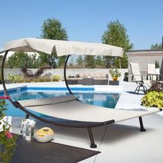Del Rey Double Chaise Lounge With Canopy