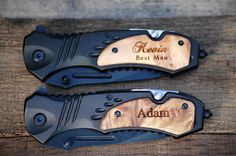 Awesome Groomsman Gift for Wedding Party, Beer Bottle Opener as well. What is not to love. Groomsman love using these knives. Thanks, Urban Farmhouse Tampa