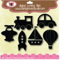 Designs on Cloud 9 Transport Silhouettes SVG and cutting files