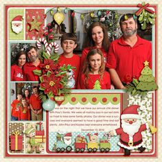 "1. Kit: ""Merry Little Christmas"" by Lliella Designs  2. Template: ""Pieces Of My Heart Set #11"" by Kay Miller Designs"
