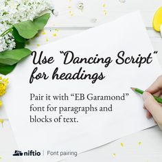 Font Pairing 02: Cursive & Serif Fonts