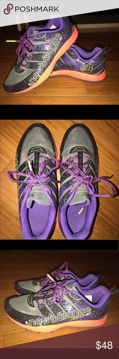 Like New!! New Balance trail running sz 8.5 Worn twice. No flaws! Perfect condition! New Balance Shoes Athletic Shoes
