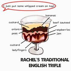 """KaoriさんはInstagramを利用しています:「海外ドラマ """"フレンズ"""" のレイチェルが作ったトライフルを描いてみました。🎂⭐️ Amazonプライムのおかげで最近ハマり中😂💫。 もう10年前のドラマだけど本当におもしろい。 #rachel #traditional #english #trifle #friends #tv…」"""