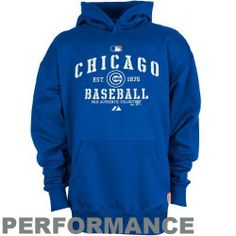 Majestic Chicago Cubs Youth Royal Blue AC Classic Therma Base Performance Hoody Sweatshirt (Small) by Majestic. $29.97. Midweight pullover hoodie. Rib-knit cuffs & waist. Hood. 10.4 oz. Midweight fleece. Screen print graphics. Let your young fan capture the excitement of Cubs baseball with this warm Classic performance hoody by Majestic's MLB Authentic Collection featuring Therma Base fabric for comfort, breathability and insulation!Midweight pullover hoodyHood10.4 o...