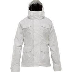 BURTON Delirium Women's Winter Ski Snowboard Jacket Size Medium M (8) White