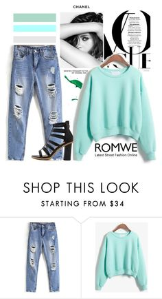 """""""Romwe"""" by fashion-addict35 ❤ liked on Polyvore featuring Chanel"""