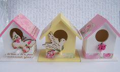 https://flic.kr/p/dYModp | Miniature birdhouse wedding favours