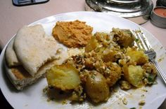 Roasted Cauliflower and Potatoes With Lemon and Feta from Food.com:
