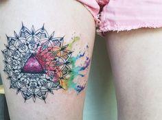 #tattoofriday - Baris Yesilbas e suas tatuagens aquareladas cheias de cor.