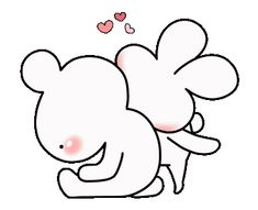 LINE Official Stickers - every day love UsakKuma 10 Example with GIF Animation Love Stickers, Custom Stickers, Cute Bear Drawings, Cute Couple Cartoon, Cute Love Stories, Cute Love Gif, Dibujos Cute, Cute Bears, Mocha