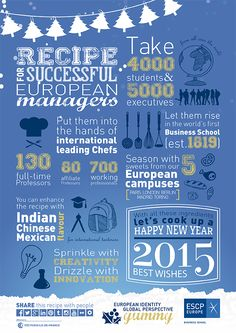 Recipe for Successful European Managers. Happy New Year 2015!