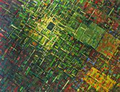 Anna Wolska - Abstract, 120x100cm, impasto abstract painting, oil, canvas