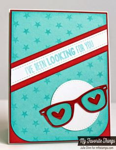Geek Is Chic, Star Background, Blueprints 18 Die-namics, Geek Is Chic Glasses Die-namics, Heart Doily Die-namics, Stitched Circle STAX Die-namics - Julie Dinn #mftstamps