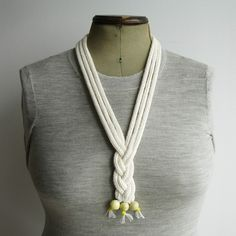 THIS WOULD LOOK GREAT AS A COLOR ON A RECYCLED SHIRT Macra Knitted Cord Necklace