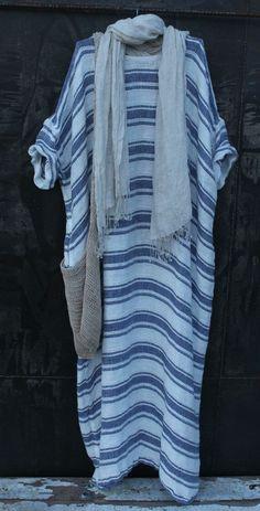 Linen Dress MegbyDesign💜 Pinned by Design 💜 Jewelry Look Fashion, Hijab Fashion, Fashion Outfits, Womens Fashion, Fashion Design, Steampunk Fashion, Gothic Fashion, Summer Outfits, Casual Outfits