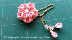 Tutorial:How to make Tsumami Kanzashi -cherry blossom(sakura) flower in ...