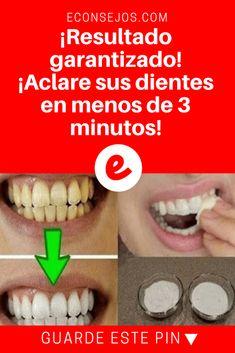 Aclarar dientes   ¡Resultado garantizado! ¡Aclare sus dientes en menos de 3 minutos!   Comienza a ver el resultado de este blanqueamiento luego del primer día. Sepa cómo hacer.