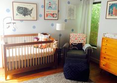 "Love this ""worldly"" themed nursery for a boy... oh the places you will go!"