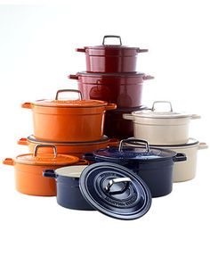 Good alternative to LeCreuset... I have Martha's cast iron dutch oven.   Great for sauce and pot roasts!