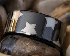 Tungsten Carbide Band 9mm Black Pipe Wonder by FANaticCreations, $49.00