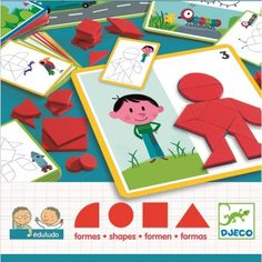 Edulodo Shapes by Djeco Creative Thinking, Creative Kids, Tangram Puzzles, Lateral Thinking, Shape Puzzles, Visual Memory, Love Problems, Interactive Activities, Thinking Skills