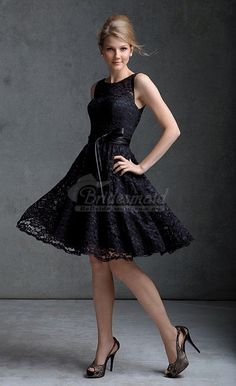 Lace Short Fit and Flare Dress Straps High Neckline Full Fun Skirt Hemline - Adoring Dress Black Lace Bridesmaid Dress, Mori Lee Bridesmaid Dresses, Patterned Bridesmaid Dresses, Black Prom Dresses, Floral Lace Dress, Lace Bridesmaid Dresses, Formal Dresses, Pregnant Wedding Dress, Maternity Wedding
