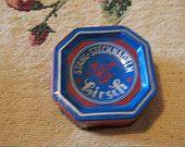 Vintage Collectible Hirsch Stahl Stecknadeln Needle Tin