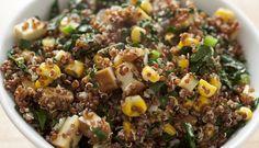 Quinoa Kale Salad with Corn by strongertogether.coop #Salad #Quinoa #Kqle #Corn