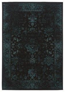 Oriental Weaver Revival Black Rug - Modern - Hall And Stair Runners - by Home Brands USA