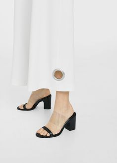Eyelets cropped trousers