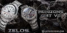 Zelos Horizons GMT v2 Review 316l Stainless Steel, Stainless Steel Bracelet, Gt V, Exhibition Display, Custom Engraving, How Are You Feeling, Rose Gold, Crystals, Accessories