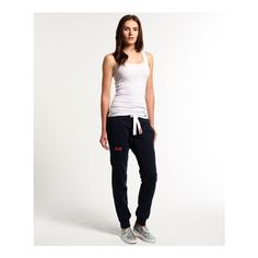 Superdry womenfts slim fitting sweatpants from the Orange Label range.  Classic slim leg sweatpants with ankle cuffs included in the design.  These sweatpants …