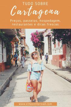 Cartagena, na Colômbia. Dicas atualizadíssimas dl que fazer, onde ficar, o que comer, restaurantes e mais! Time Travel, Us Travel, Travel Tips, San Andreas Colombia, Visit Colombia, Ticket To Ride, Travelling Tips, Traveling, Places To Go