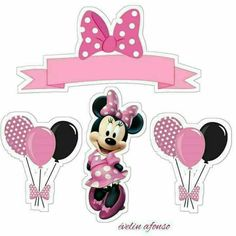 Minnie Mouse Stickers, Minnie Mouse Rosa, Minnie Mouse Images, Minnie Mouse Cake Decorations, Minnie Mouse Cupcake Toppers, Minie Mouse Party, Minnie Mouse Birthday Theme, Mickey Printables, Mini Mouse Cake