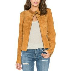 ✨HP✨ SANCTUARY suede motto jacket Beautiful real suede moto jacket. Color is called light maple. Zip front closure. Shoulder epaulettes. Front zipper pockets. Button tabbed hem. Zippered sleeves. Self 100% genuine leather. Lining 100% polyester. TTS. New with sanctuary tag. I purchased this jacket with no actual scanning price tag (we scanned another jacket at checkout) but it has the sanctuary tag attached. It has never been worn. Leather dry clean only. Will add actual pics of jacket in…