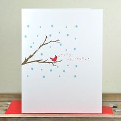 Printed on heavy cotton white stock, these folded note cards measure by when folded and come with your choice of Watercolor Christmas Cards, Christmas Card Crafts, Homemade Christmas Cards, Christmas Drawing, Christmas Paintings, Xmas Cards, Christmas Art, Homemade Cards, Handmade Christmas