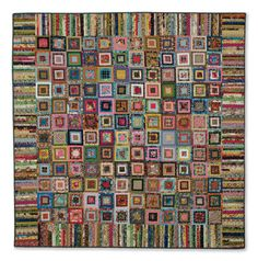 """Bushel Basket Quilt"" from Scrappy Firework Quilts by Edyta Sitar for Laundry Basket Quilts. How stunning is this scrappy quilt from quilting star Edyta Sitar? Or is it a strippy quilt? This awesome patchwork project features pieced quilt blocks and strippy borders! Find it online: http://landauerpub.com/Scrappy-Firework-Quilts.html"