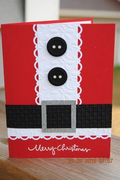 stampin up Christmas cards to make Homemade Christmas Cards, Christmas Cards To Make, Xmas Cards, Homemade Cards, Christmas Crafts, Funny Christmas, Santa Christmas, Christmas Island, Half Christmas