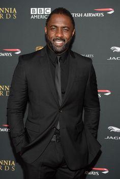 Idris Elba wearing Burberry at the 2013 BAFTA Britannia Awards, Los Angeles