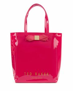 d74f6459037f6c GEMCON - Large metallic bow ikon bag - Bright Pink