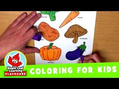 Vegetables Coloring Page for Kids   Maple Leaf Learning Playhouse - YouTube