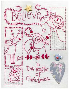 Believe Christmas Sampler free pattern to download and stitch for Christmas from Red Brolly