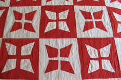 Victorian Red and White Applique Quilt   Collector Quilts   Victorian Red and White Applique Quilt from Jen Jones Welsh Quilts & Blankets
