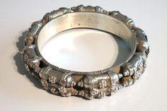 Antique Ethnic Tribal silver bracelet bangle door tribalgallery, $350.00