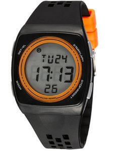 Boys Girls Students Cool Personality Ultra Thin Electronic Sport Watches Orange. Japanese High quality movement with rubber band. Multi function(Alarm,calendar,luminous). Water Resistant to 30 metres (not for diving and do not press button under water). Pack: 1 pcs watch. Fashion watch gift for your friends and children.