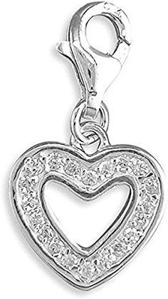 GIFT BOX/PRESENT BOX CZ Set Sterling Silver Clip-On Charm - For Thomas Sabo Style Charm Bracelets. JB3069