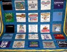 What do you do with all those race shirts? Make a quilt, of course!   womensrunning.com