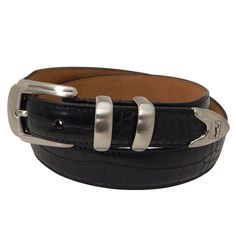 Men's PGA Tour Tapered Faux-Crocodile Leather Golf Belt, Size: