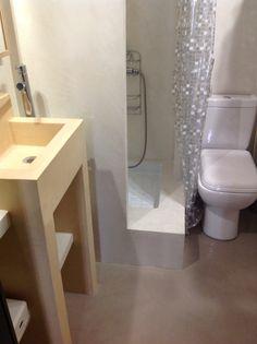 bcc salle de bain en bton cir couleur lin sophia et