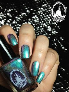Enchanted Polish - Kids (Time to Pretend Collection, turquoise linear holo with purple duochrome)
